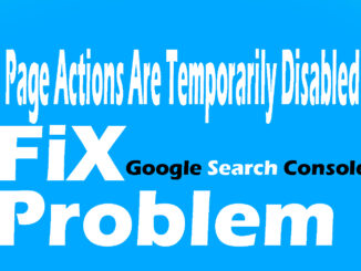 Page actions are temporarily disabled 2