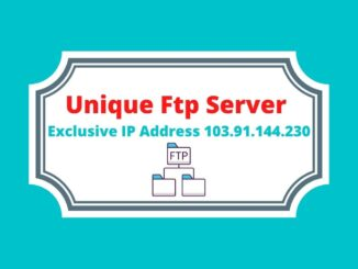 Unique Ftp Server Exclusive IP Address 103.91.144.230