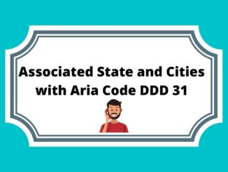Associated State and Cities with Aria Code DDD 31